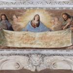 05 Giovanni Grattapaglia, La Vergine, Il beato Amedeo di Savoia e San Giovanni Battista sorreggono la Sindone. Ph Paolo Robino, 1650, Palazzo Madama, Corte Medievale