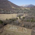 Villa romana di Caselette vista dall'alto